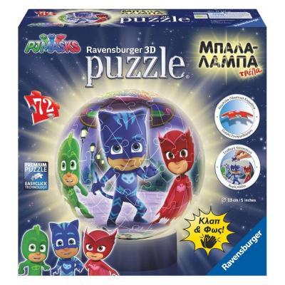 3D Puzzle Μπαλαλάμπα Τρέλα 72 τεμ. PJ Masks