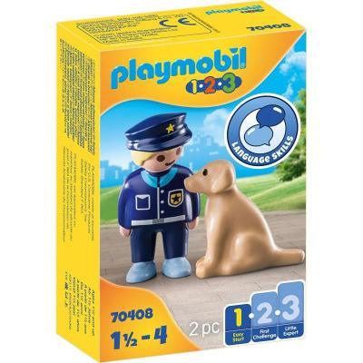 Αστυνομικός με εκπαιδευμένο σκύλο