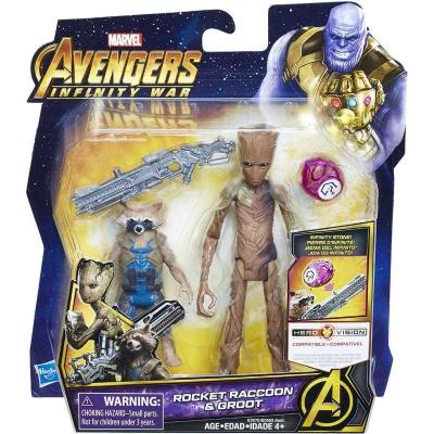 AVENGERS 6IN DLX FIGS W STONE N ACCESSORY AST