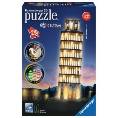 Παζλ 3D 216τμχ Πύργος της Πίζας Νυχ.έκδοση