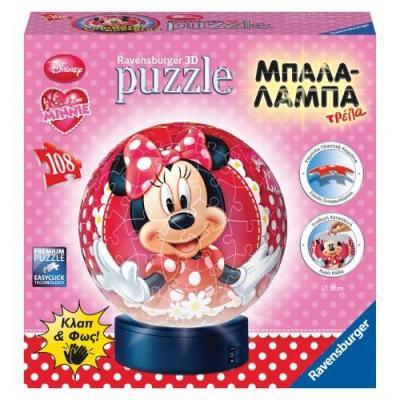 Παζλ 3D Μπαλαλάμπα108τμχ Minnie