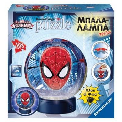 Παζλ 3D Μπαλαλάμπα108τμχ Spiderman