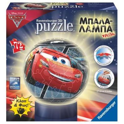 Παζλ 3D Μπαλαλάμπα 72τμχ Cars 3